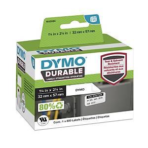 Etichette Dymo permanenti per LabelWriter polipropilene 57 mm rotolo - conf. 800