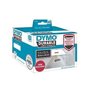 Etiquette d expédition Dymo LW durable 16 x 64 mm - blanche - 2 rouleaux de 450