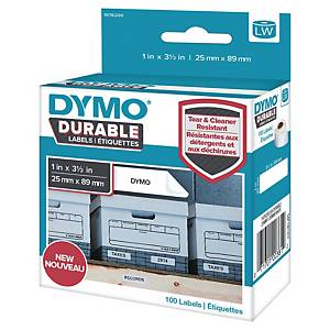 Adressetiketten Dymo 1976200 D1, 25x89 mm, weiss, Packung à 100 Stück