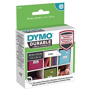 Dymo 1976411 duurzame etiketten voor labelprinter, 25 x 54 mm, wit, rol van 160