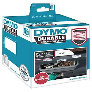 Dymo durable labels for label printer 59x102mm white box of 50