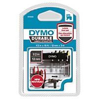 Ruban Dymo D1 Durable - 12 mm - blanc sur noir