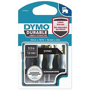 DYMO D1 1978364 DURABLE TEXTBAND 12MM VIT/SVART