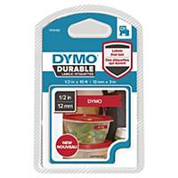 Ruban Dymo D1 Durable - 12 mm - blanc sur rouge