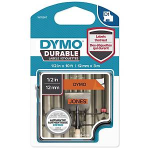 DYMO D1 1978367 DURABLE TEXTBAND 12MM SVART/ORG