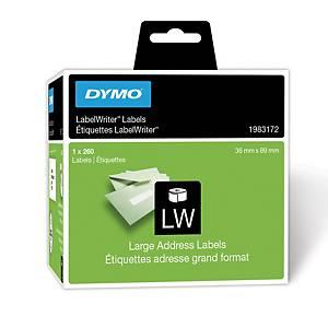 Etichette per Dymo LabelWriter in carta bianca 89 mm in rotolo - conf. 260