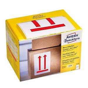 Avery címke 7250,   Ezzel az oldalával felfelé , 200 darab/csomag