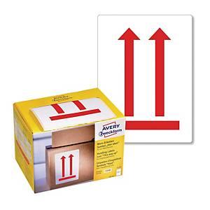 Ostrzegawcze etykiety wysyłkowe-Tutaj góra Avery Zweckform, 74x100mm, 200szt*