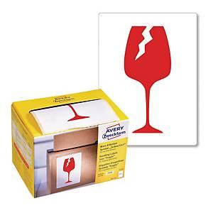 Ostrzegawcze etykiety wysyłkowe-Ostrożnie szkło Avery Zweckform 74x100mm, 200szt