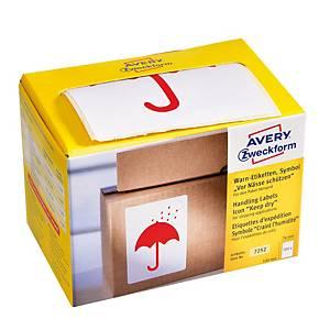 Avery Zweckform Symbol Warnetiketten Vor Nässe schützen, 200 Etiketten per Pkg