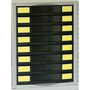 Module pour armoire métallique Pierre Henry - 8 tiroirs - noir
