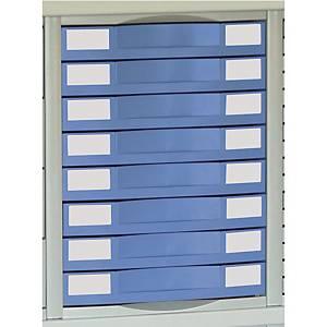 Module pour armoire métallique Pierre Henry - 8 tiroirs - bleu