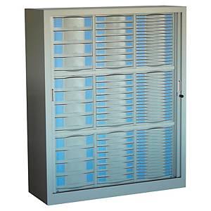 Kit module pour armoire métallique Pierre Henry - 4/8/16 tiroirs - gris