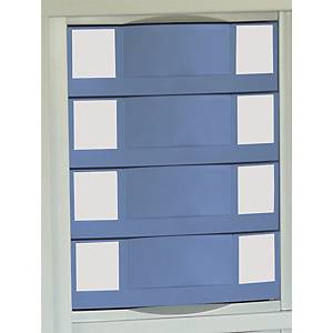 Module pour armoire métallique Pierre Henry - 4 tiroirs - bleu