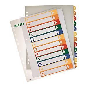 Leitz A4 PP PC Printable Index 1-12
