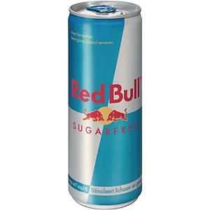 Boisson énergétique Red Bull sans sucre, le paquet de 24 canettes de 25 cl