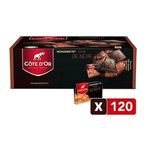 Côte d Or Mignonettes noir de noir, pure chocolade, doos van 120 stuks