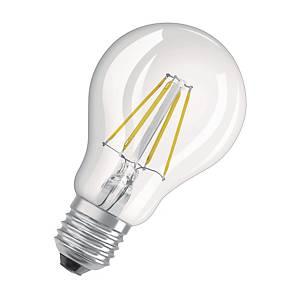 OSRAM Parathom Retro Classic A LED lamp, E27, 4 W, 470 lumen, transparant