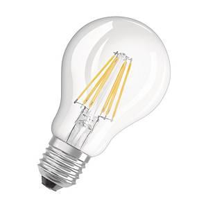 OSRAM Parathom Retro Classic A LED lamp, E27, 6 W, 806 lumen, transparant
