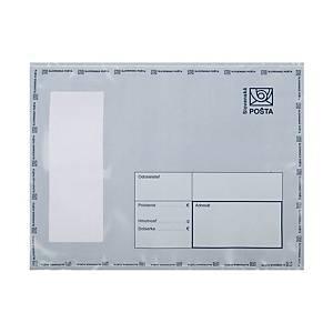 Plastová obálka na ceniny Slovenská pošta, 195 x 255 mm, C5+, biela
