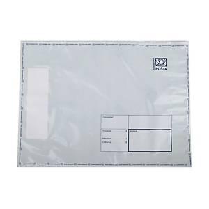 Plastová obálka na ceniny Slovenská pošta, 295 x 400 mm, C4+, biela