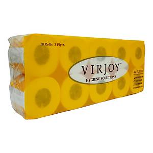 Virjoy 3-Ply Bathroom Tissue (Yellow) - Pack of 10 Rolls