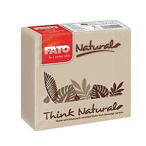 Tovaglioli Think Natural a 2 veli Fato 25x25 cm avana - conf. 50