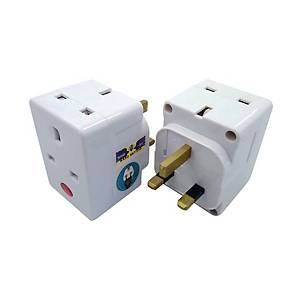 SUM 3 WAY 3 PIN WHITE ADAPTOR SAFETY MARK CERTIFICATE