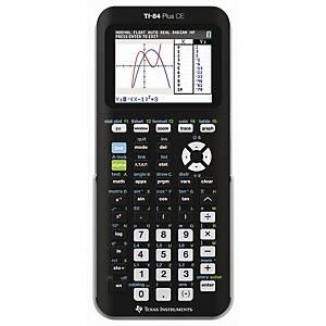 Calculatrice scientifique Texas Instruments TI 84+ CE, 8 lignes, 16 caractères
