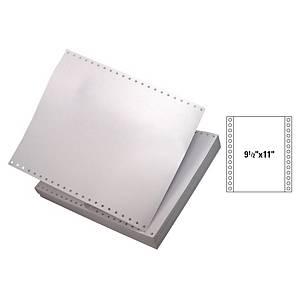 全白電腦紙 9.5吋 x 11吋 4層 - 每盒450張