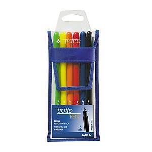 Pennarelli Tratto Pen Metal punta 0,5 mm colori assortiti - conf. 6