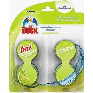 DUCK ผลิตภัณฑ์ทำความสะอาดโถสุขภัณฑ์ กลิ่นเฟรชกรีนเลมอน 38กรัม แพ็ค4ชิ้น