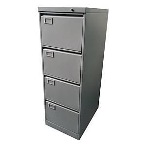 四斗鋼文件櫃(灰色) 高132.1 x 闊45.8 x 深63.5厘米
