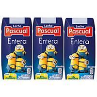 Pack de 18 briks de leche entera Pascual - 200 ml