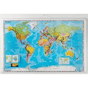 NAGA WALL WORLD MAP 1340X870MM