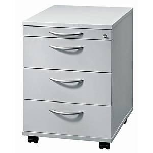 Rollcontainer VAC30-5-5, 3 Schübe, Größe: 59x42,8x58 cm, grau, Desktopservice