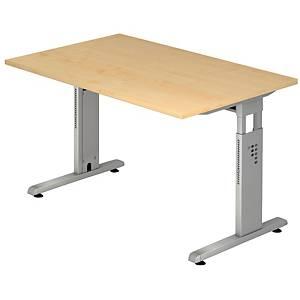 Schreibtisch VOS19-3, verstellbar, Größe: 180 x 80cm, ahorn, Montageservice