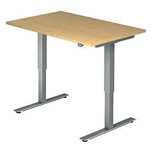 Schreibtisch VXMST12/3/S, höhenverstellbar, Größe: 120x80, ahorn, Montageservice