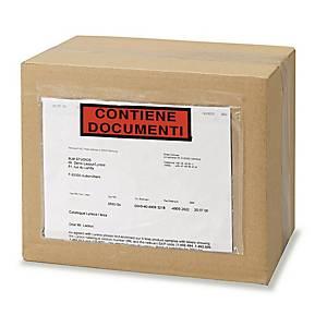 Buste sovracollo con scritta  contiene documenti  225 x 160 mm - conf. 250