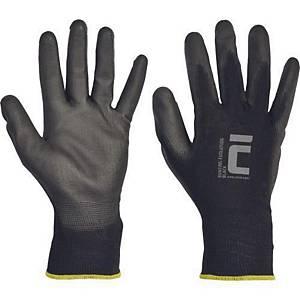 Viacúčelové rukavice Cerva Bunting Black Evolution, veľkosť L, 12 párov