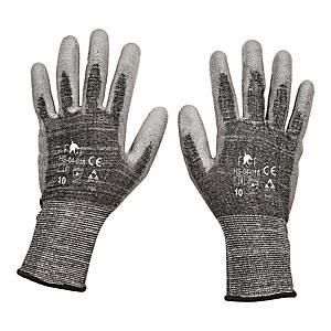Rękawice antyprzecięciowe F&F HS-04-018, szare, rozmiar 9, para
