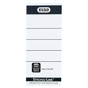 Etiket til Elba Brevordner, A4, 8 cm, pakke a 10 stk.