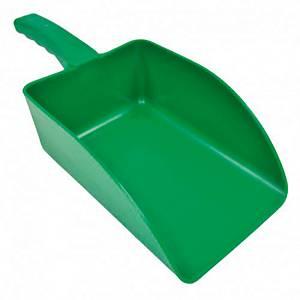 Pala de mano pequeña de polipropileno. Color verde -  1000 gr