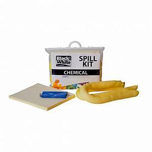 Kit de emergencia para derrames de químicos. Capacidad de absorción 39,06 L