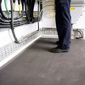 Alfombra aislante eléctrica y antideslizante negra - 1000 x 1000 mm