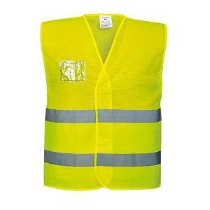 Colete de malha alta visibilidade Portwest C494 - amarelo - tamanho S/M