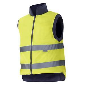 Colete acolchoado reversível alta visibilidade Velilla 148 - amarelo - tamanho L