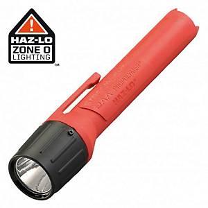 Lanterna LED aprovada ATEX para localizações de Categoria 1. Pilhas incluídas