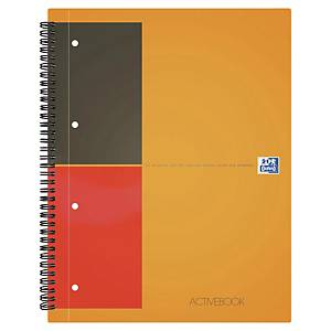 Cahier spirale Oxford Activebook A4+ - 160 pages - quadrillé - par 12