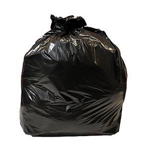 CHSA 5kg Light Duty Black Refuse Sack 80L